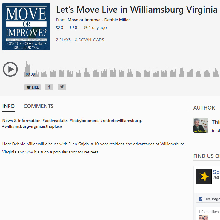 Let's Move Live in Williamsburg Virginia